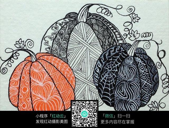 创意南瓜手绘插画设计