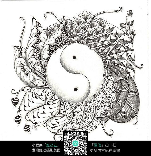 创意设计手绘八卦图