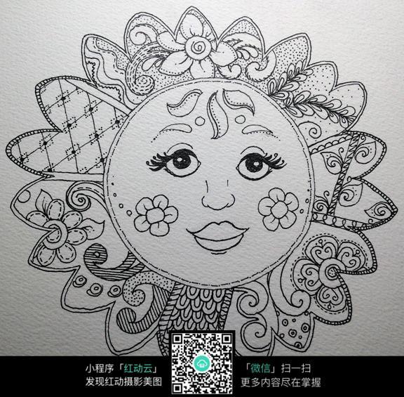 创意手绘花纹图案