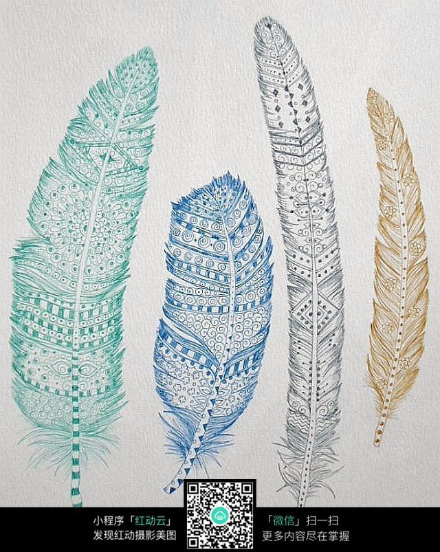 创意叶子手绘设计图片
