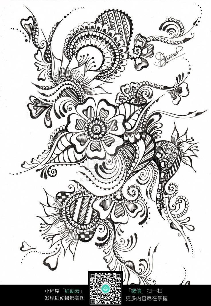 传统刺绣花纹图案