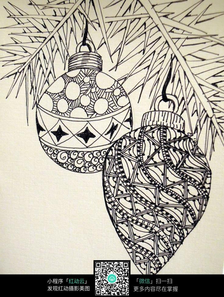 吊坠装饰花纹手绘设计图