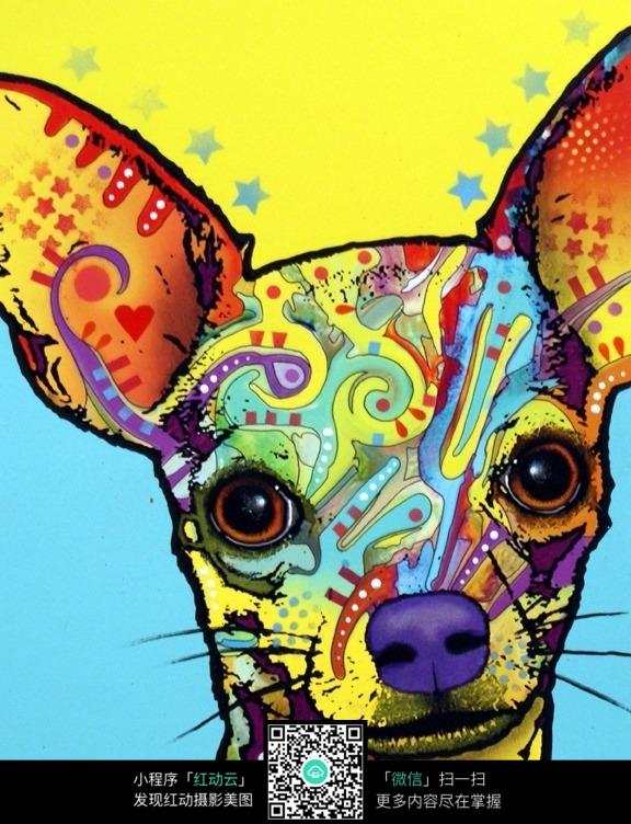 动物的头创意手绘彩色设计图片