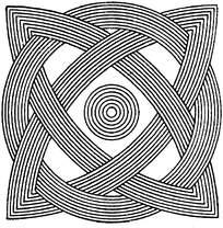 对称的线描花边素材图片