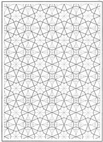 多角星形花纹