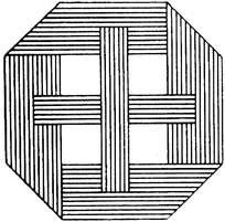 方形对称的线描花边素材图片