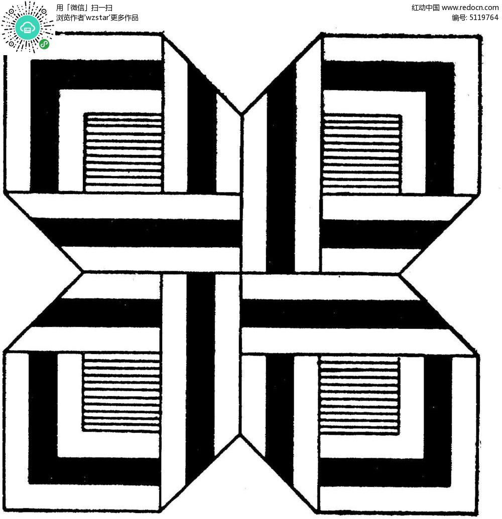 喇叭花对称图形_有趣的对称图片【学做】牵牛花有趣的无接