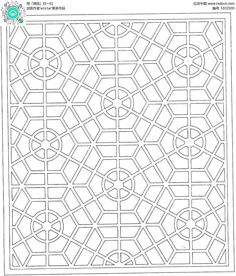 复古木窗花纹tif免费下载图片