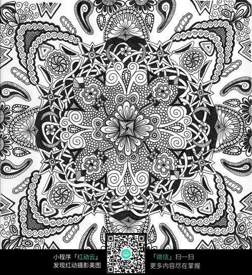 复杂手绘花纹
