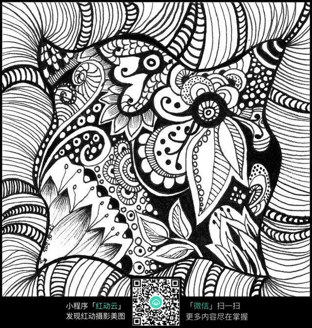 复杂纹饰手绘图