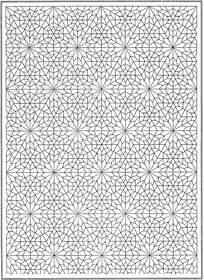 复杂星形装饰花纹