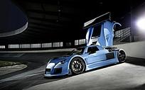 高清蓝色阿波罗跑车