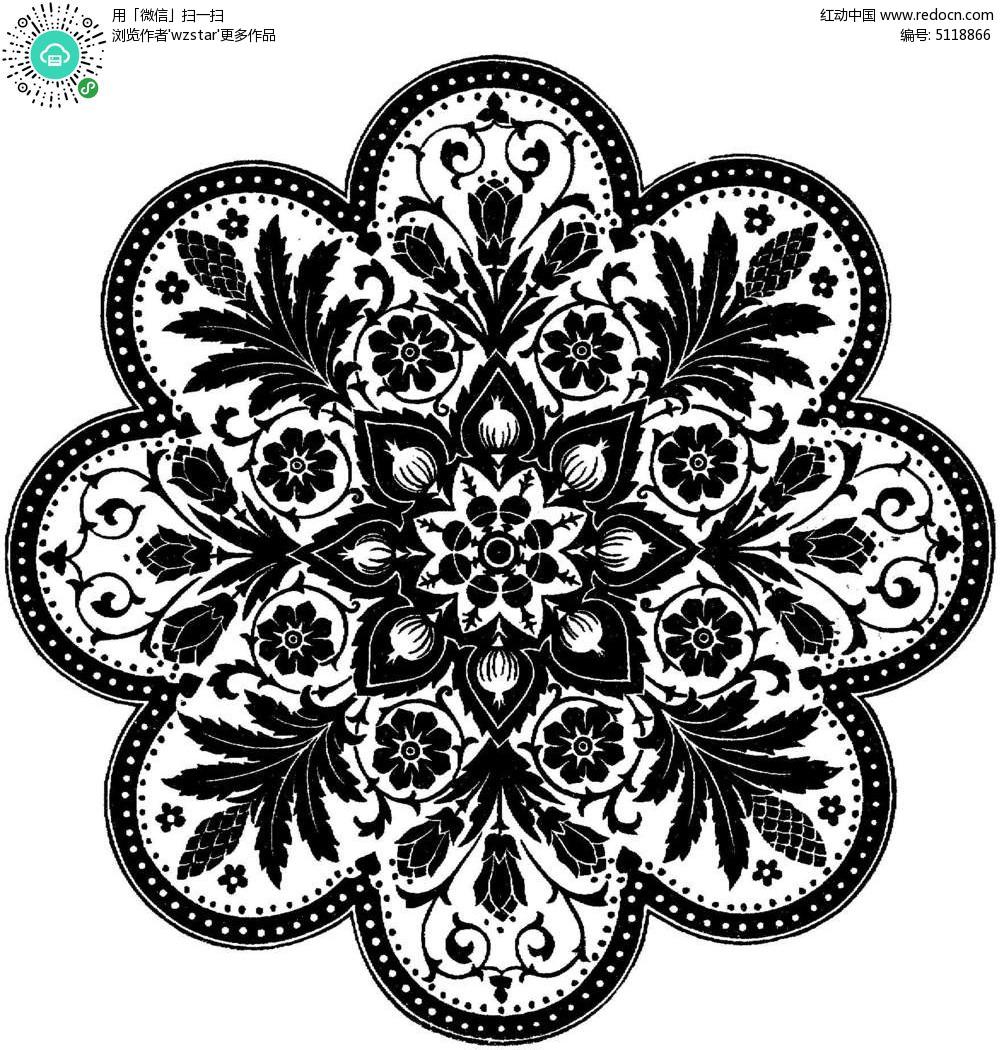 古典花纹底纹图片图片