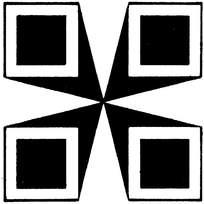 黑白几何拼图花纹图片