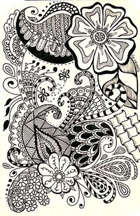 黑白装饰画花卉图片 黑白装饰画花卉设计素材