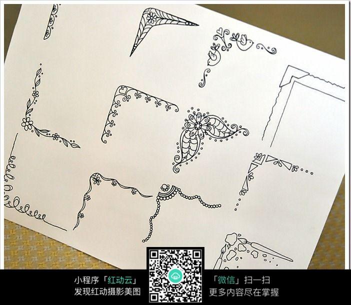 花边图案创意手绘插画