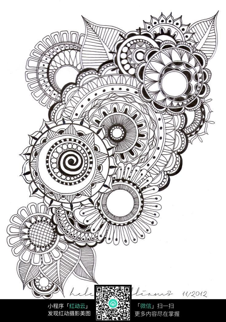 免费素材 图片素材 漫画插画 其他 花朵叠加图案  请您分享: 素材描述