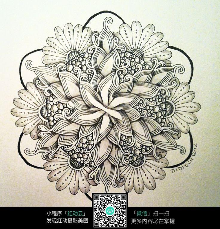 花束手绘设计图图片