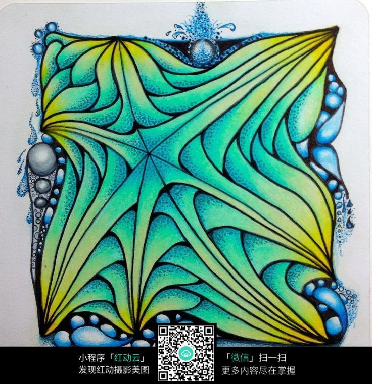 渐变色手绘设计图案素材