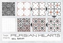 简单四瓣花纹手绘设计图