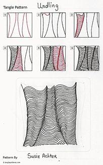 简单褶皱手绘图案设计
