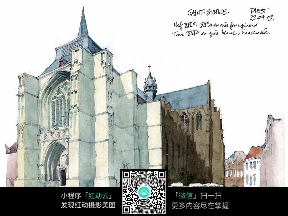 建筑手绘图图片