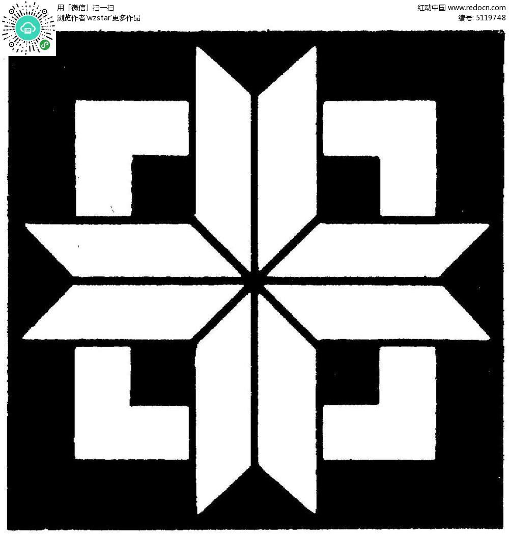 几何体构成正方形图案素材