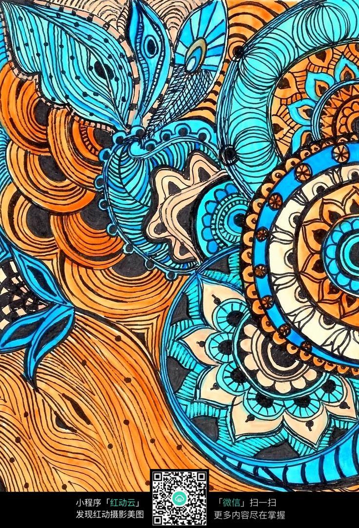 经典传统花纹手绘设计