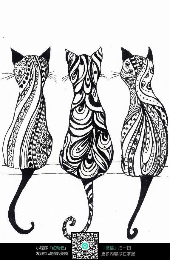 可爱的猫咪背影