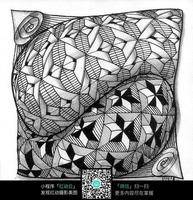 立体感手绘设计图素材图片