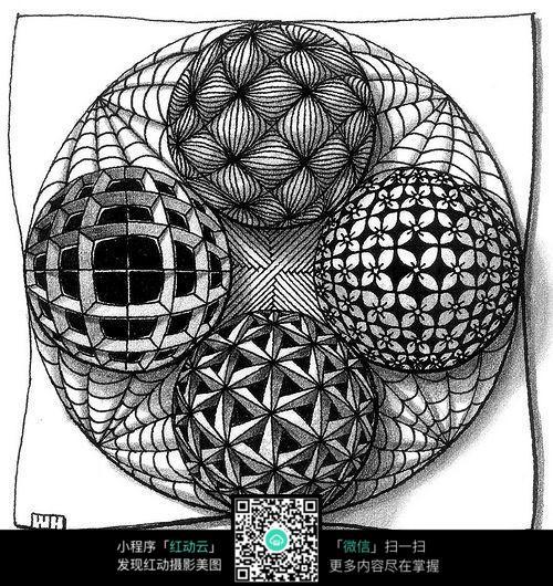 立体球体图案