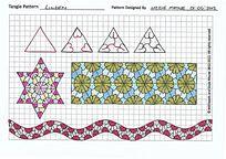 六角星花朵图案