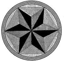 六角星花盘图案