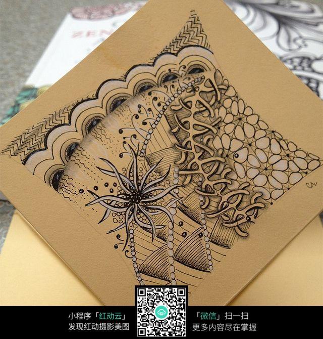 牛皮纸上的创意手绘插画