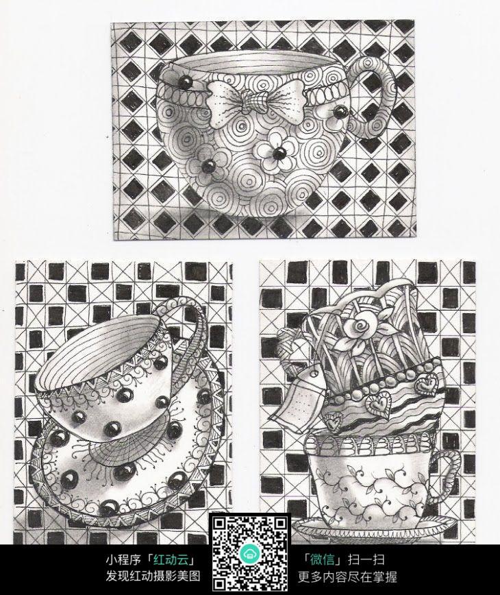 器皿类创意手绘插画