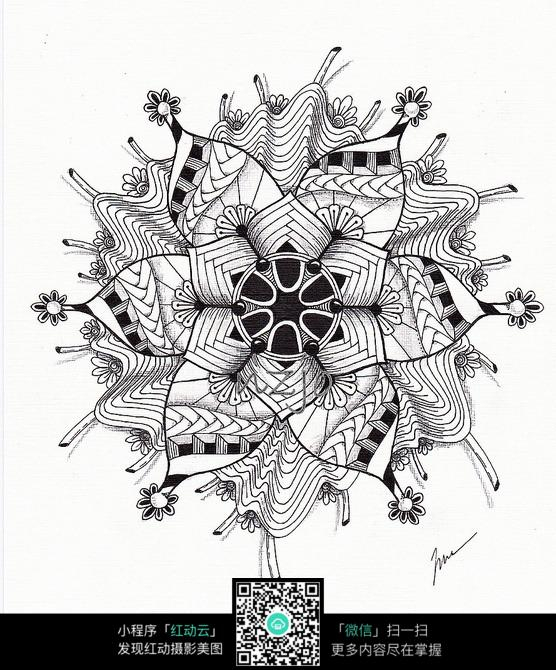 时尚花卉设计手绘图图片