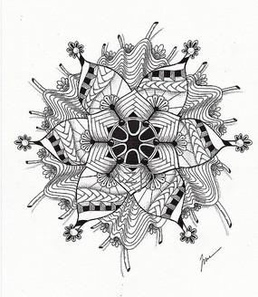 时尚花卉设计手绘图