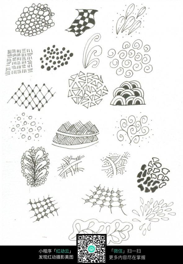 手绘抽象几何花纹图形图片