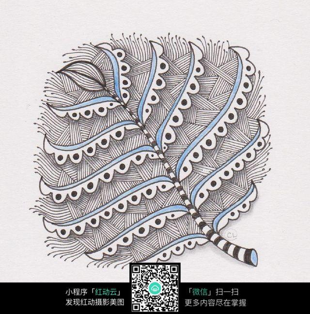 免费素材 图片素材 漫画插画 其他 手绘创意插画大叶子