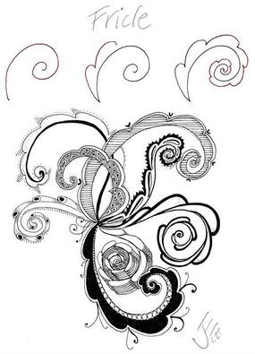 装饰花朵花纹铅笔画