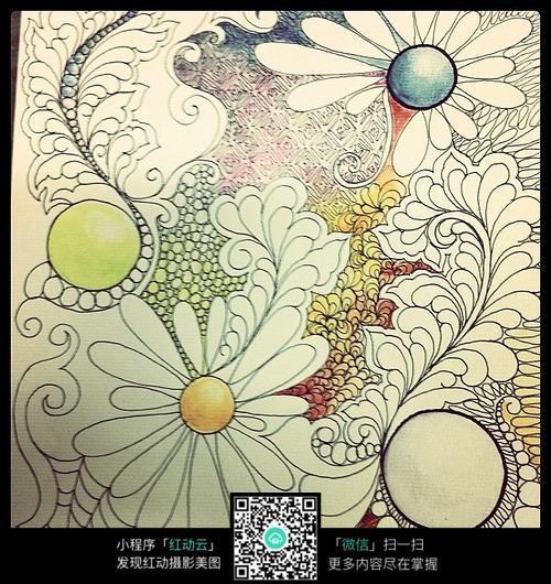 手绘花纹图案素材图片