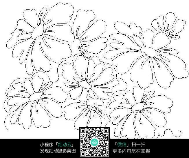 免费素材 图片素材 漫画插画 其他 > 手绘花型花纹排线设计图片  免费