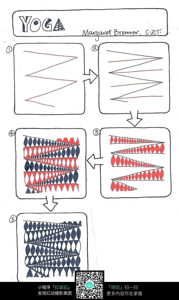 手绘设计流程图图片素材