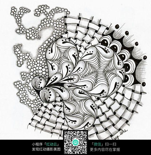 手绘图案设计图图片