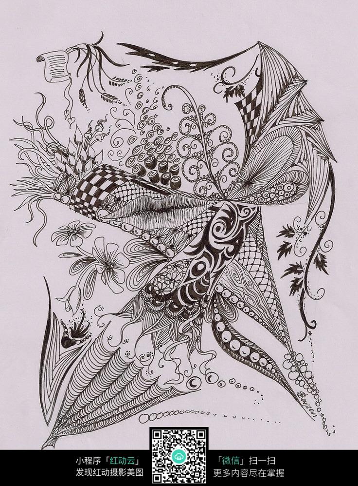 手绘纹饰图案素材