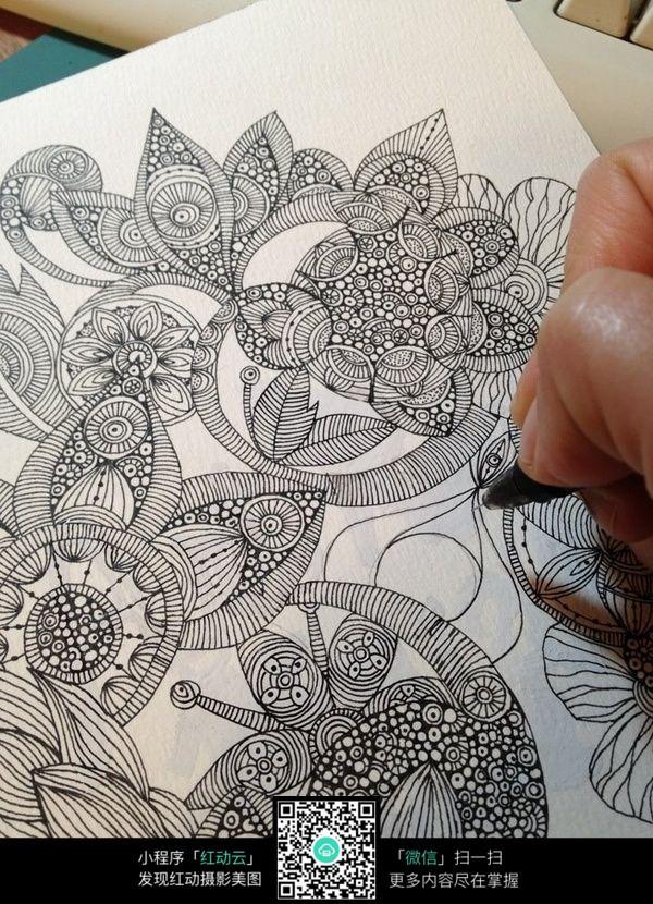 手绘线条花纹图案_其他装饰图片