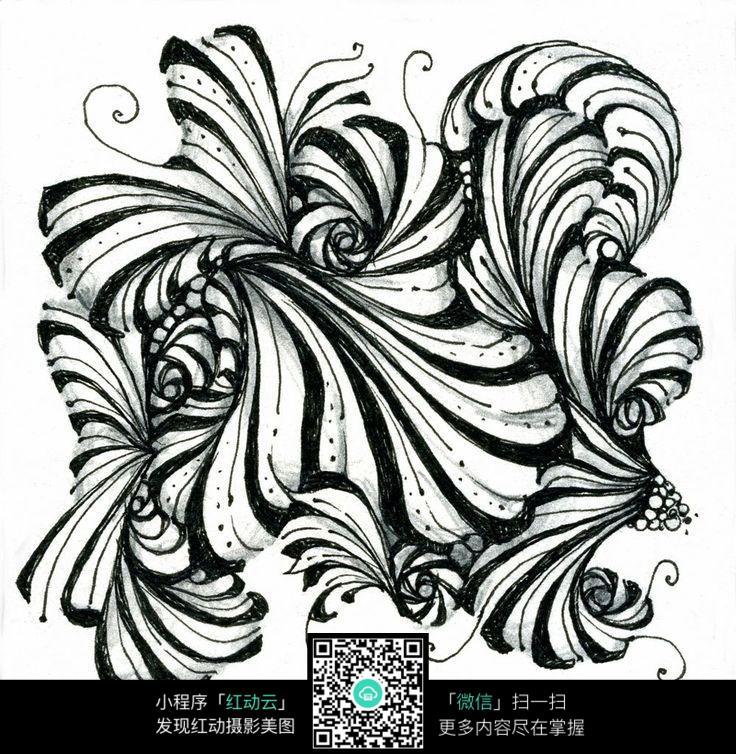 手绘线条纹理图案