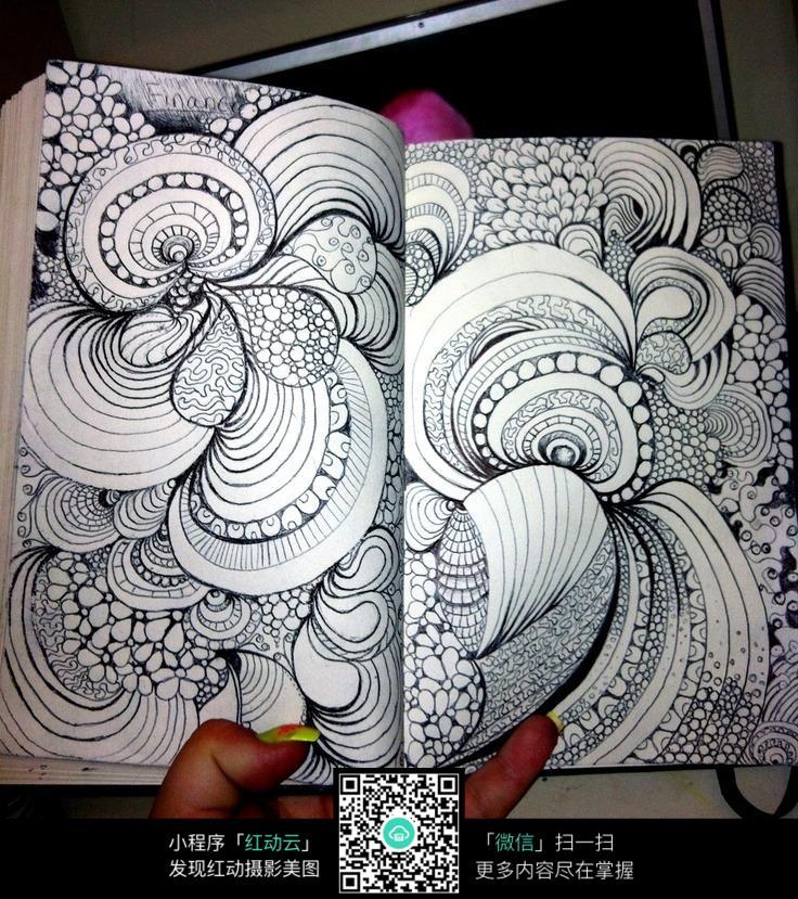 手绘线条装饰画