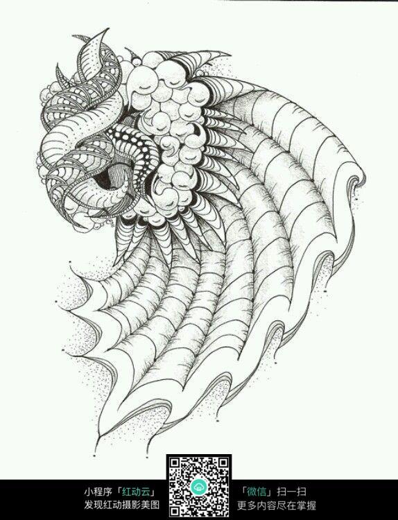 插画 绘画 绘图 插图设计 简约线稿 钢笔勾线 抽象图腾 纹理 图案