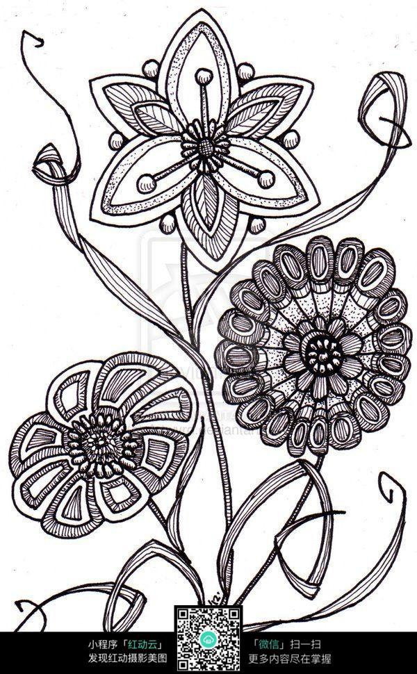 唯美手绘花纹图